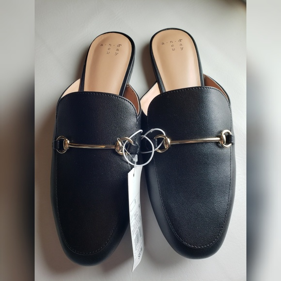 af272a013a9 NWT A New Day Kona Mules Black Loafers Backless
